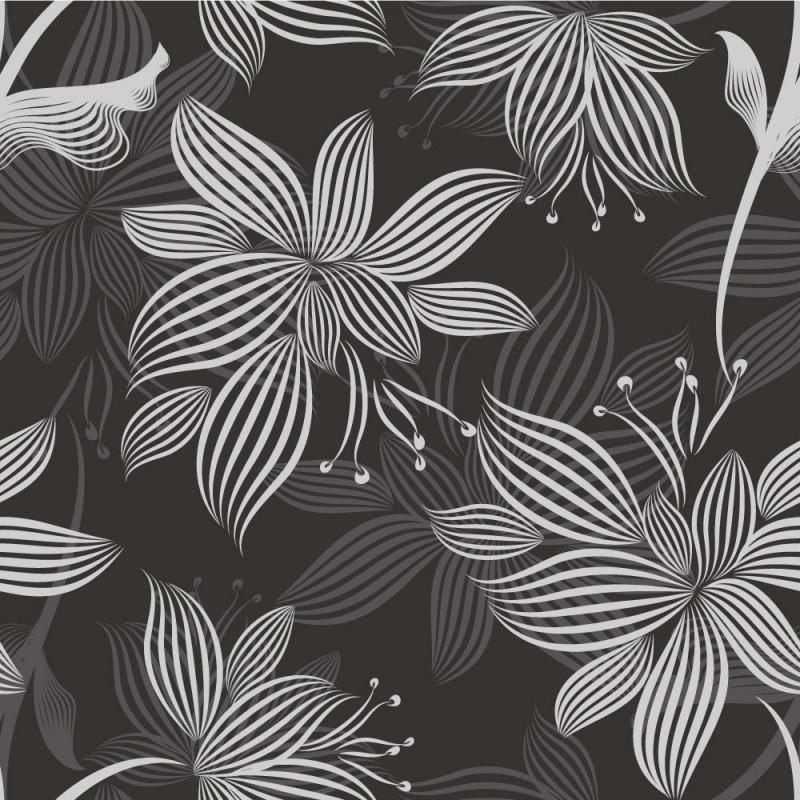 papier peint fleurs abstraites. Black Bedroom Furniture Sets. Home Design Ideas