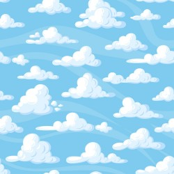 Papier peint Nuages cartoon