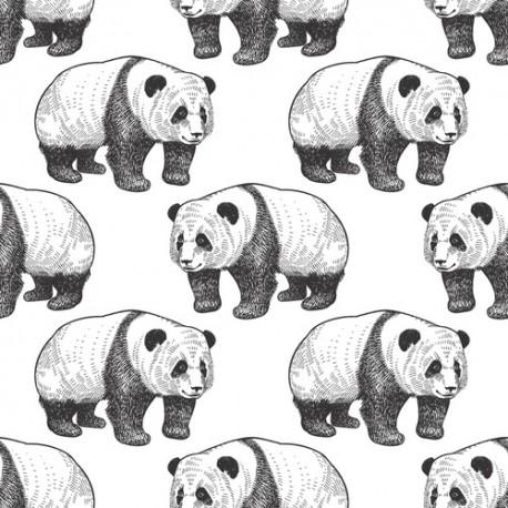 Papier peint Famille de pandas