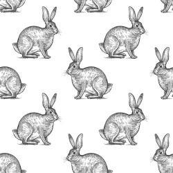 Papier peint Nuée de lapins