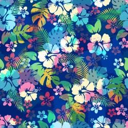 Papier peint Fleurs Hawaiennes