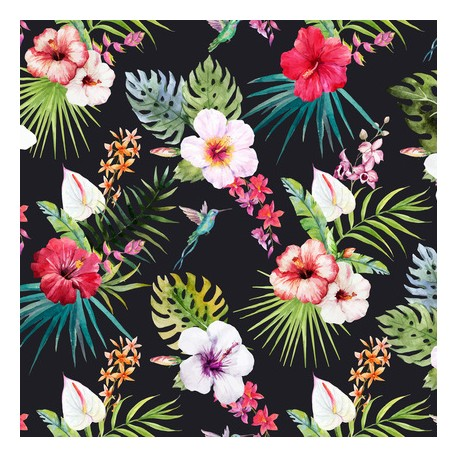Papier peint Orchidées et pinsons