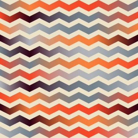 Papier peint Zigzags Retro
