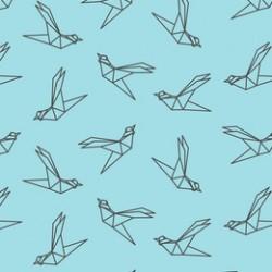 Papier peint Origamis d'oiseaux