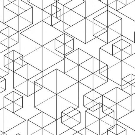 Papier peint Cubes linéaires
