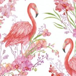 Papier peint Flamands roses pastels