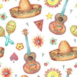 Papier peint Mexique en aquarelle