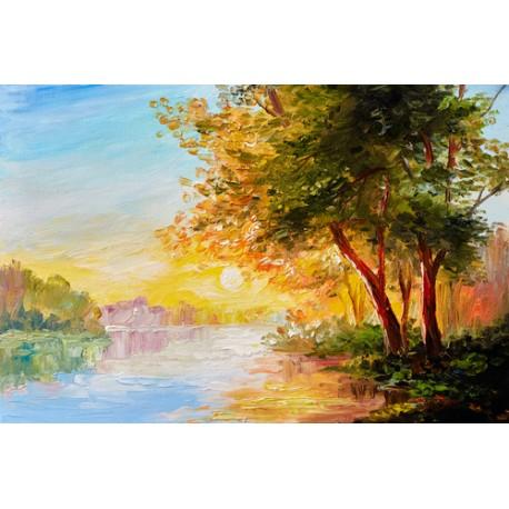 Paysage peint à l'huile