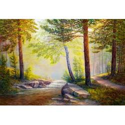 Forêt peinte à l'huile