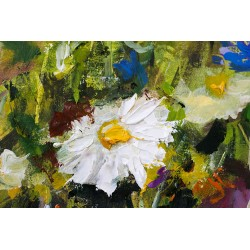 Marguerite peinte à l'huile