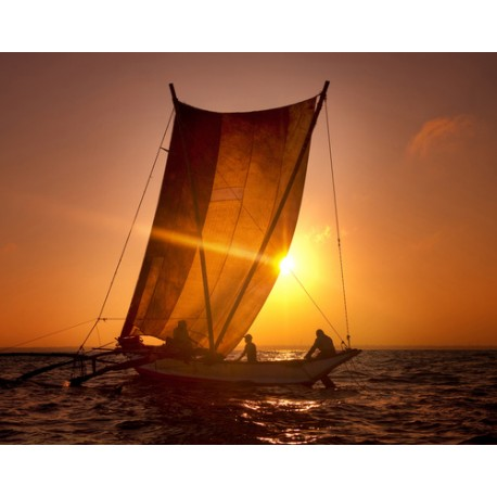 Catamaran au Sri Lanka