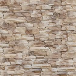 Papier peint Assemblage de pierres brunes